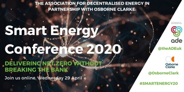 ADE Smart Energy Conference 2020 | Delivering Net zero without breaking the bank | ADE events