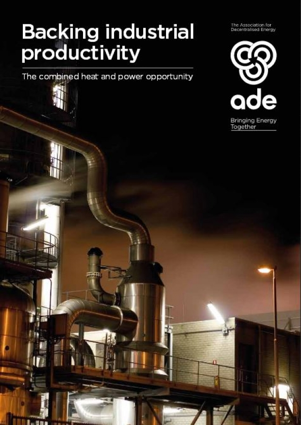 Backing industrial productivity, The combined heat and power opportunity | ADE publications