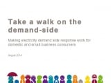 Making electricity demand side response work for domestic and small business consumers