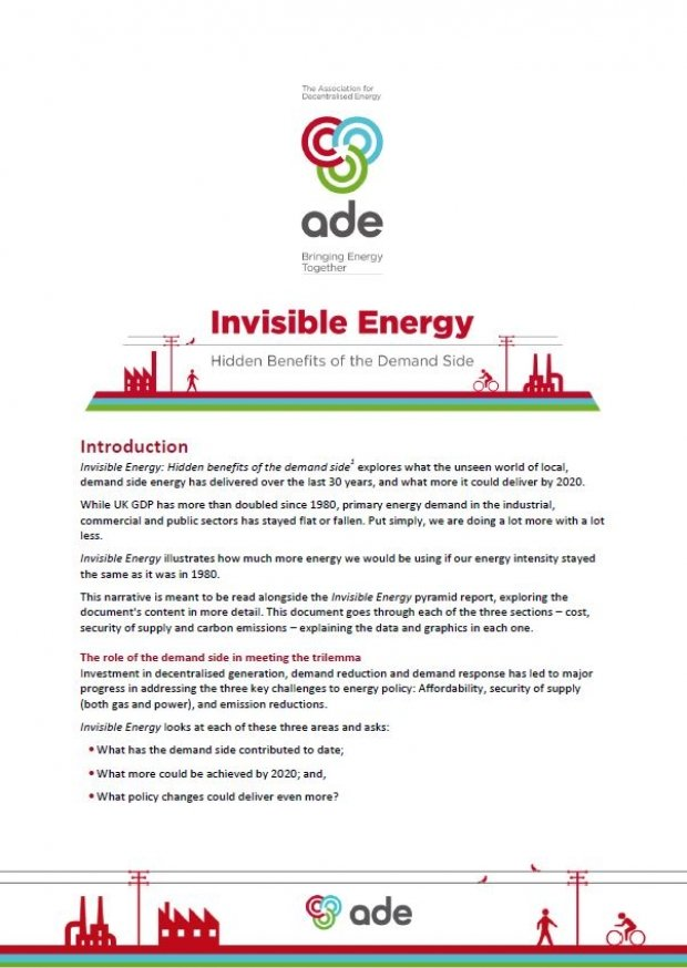 Invisible Energy, Hidden Benefits of the Demand Side | ADE publications